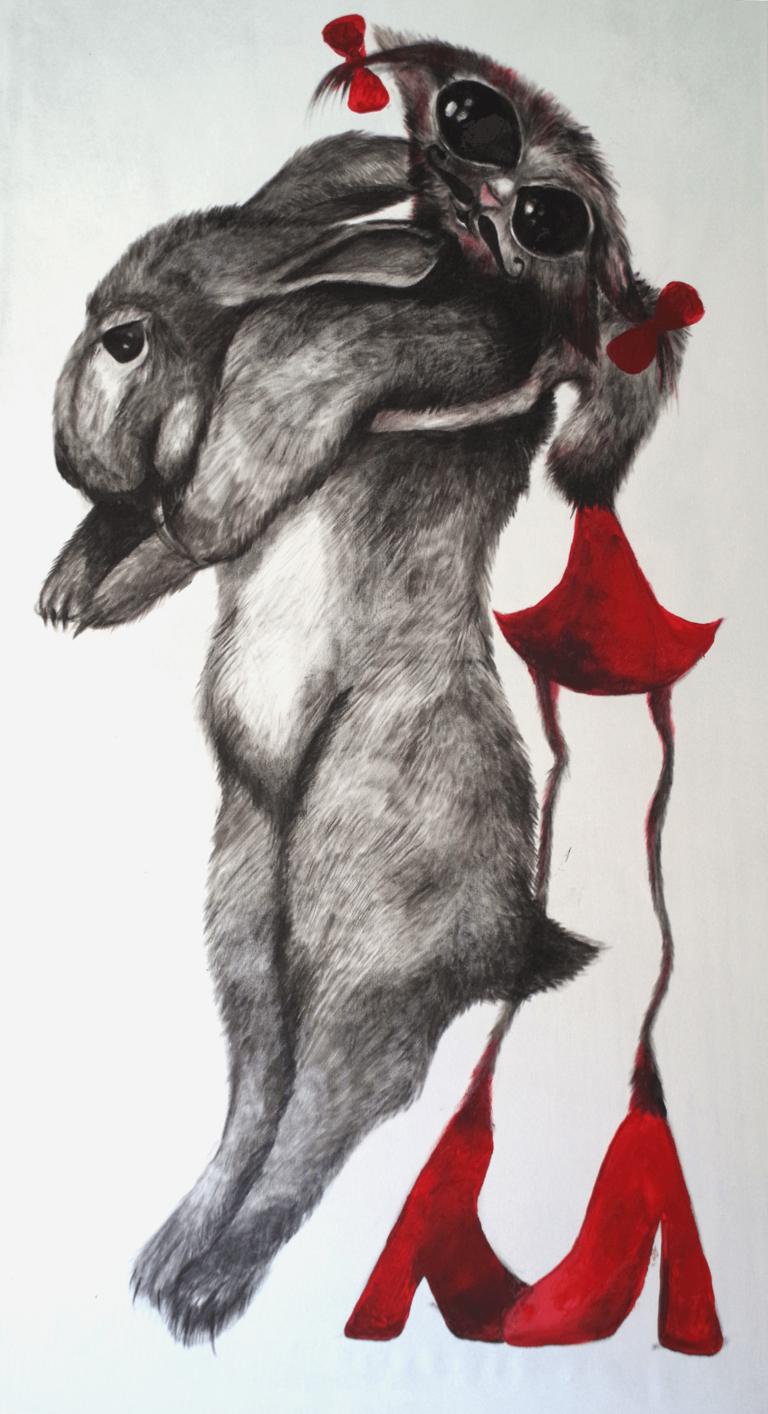 Kicia z królikiem