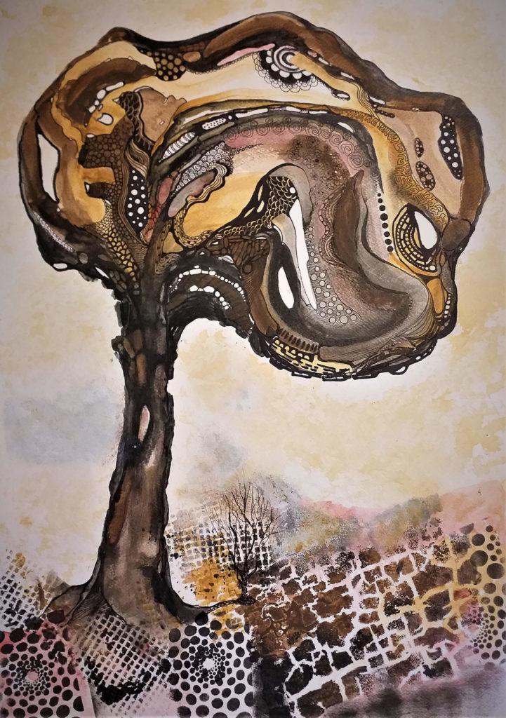 Drzewo w sepii