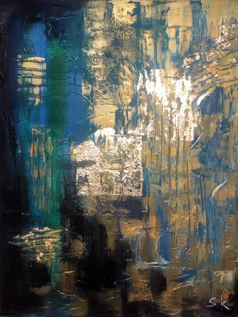 Abstrakcia ze złotem